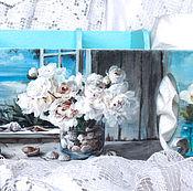 Для дома и интерьера handmade. Livemaster - original item Shelf for kitchen the Sea and flowers. Handmade.