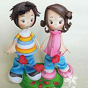 Куклы и игрушки ручной работы. Ярмарка Мастеров - ручная работа Влюбленная парочка. Куклы из фоам эва(фоамиран). Handmade.