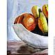 Картина акварелью Натюрморт с фруктами