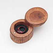 Сувениры и подарки ручной работы. Ярмарка Мастеров - ручная работа Шкатулка из дерева для кольца. Handmade.