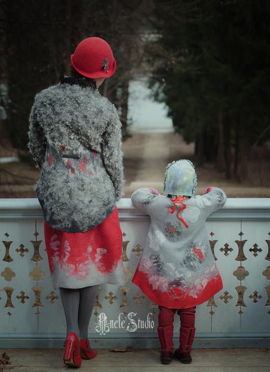 Одежда для девочек, ручной работы. Ярмарка Мастеров - ручная работа. Купить Пальто и шапочка из войлока для девочки. Handmade. Пальто для девочки