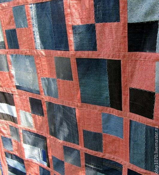 Текстиль, ковры ручной работы. Ярмарка Мастеров - ручная работа. Купить Джинсовое покрывало. Handmade. Разноцветный, покрывалов спальню, голубой