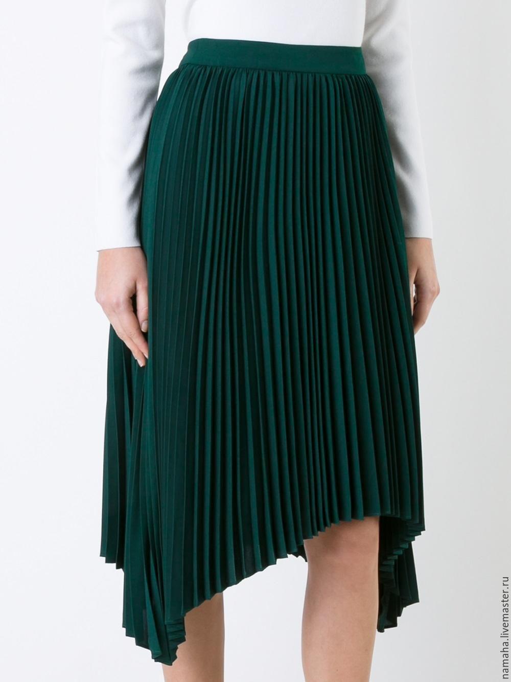 Купить ткань плиссе для юбки в москве