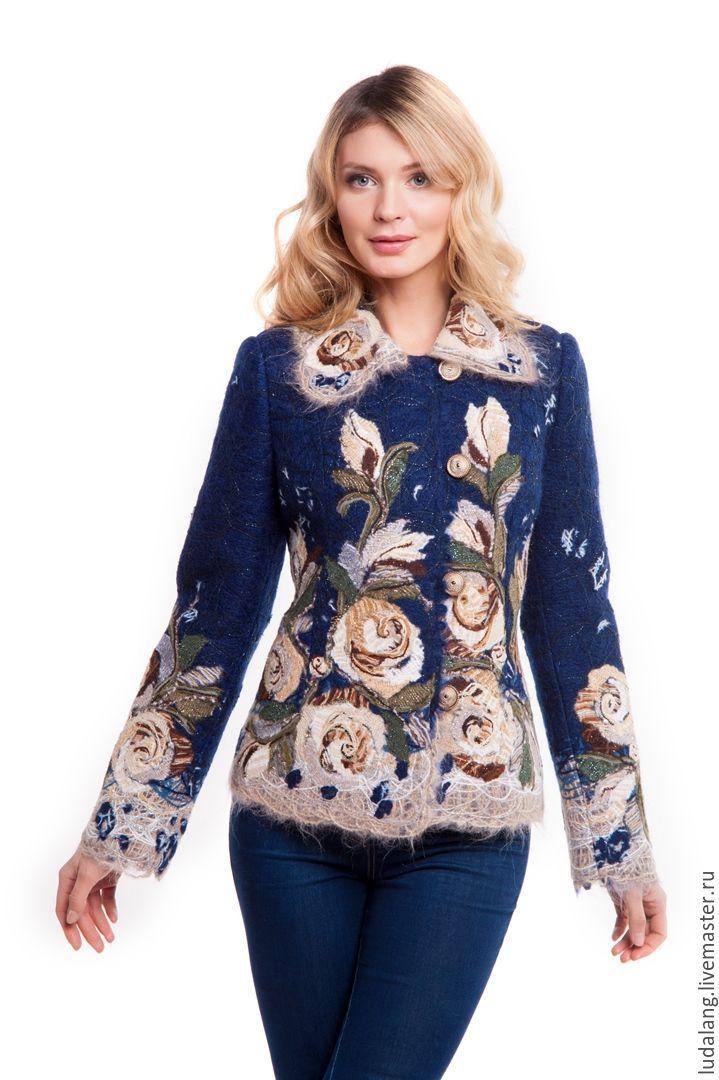 Woolen jacket Blue Fairytale, Jackets, St. Petersburg,  Фото №1