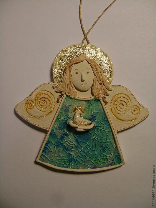 Сказочные персонажи ручной работы. Ярмарка Мастеров - ручная работа. Купить Маленькие ангелочки Керамика. Handmade. Голубой, детская