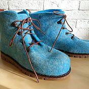 Обувь ручной работы. Ярмарка Мастеров - ручная работа Ботинки валяные мужские. Handmade.