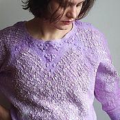 "Одежда ручной работы. Ярмарка Мастеров - ручная работа Валяная блуза  ""Соты"". Handmade."