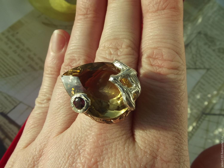 Ring 'Dry Manhattan' with honey citrine, Rings, Voronezh,  Фото №1