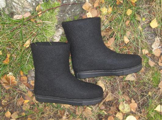 """Обувь ручной работы. Ярмарка Мастеров - ручная работа. Купить Валенки """"Люси"""". Handmade. Черный, обувь ручной работы"""