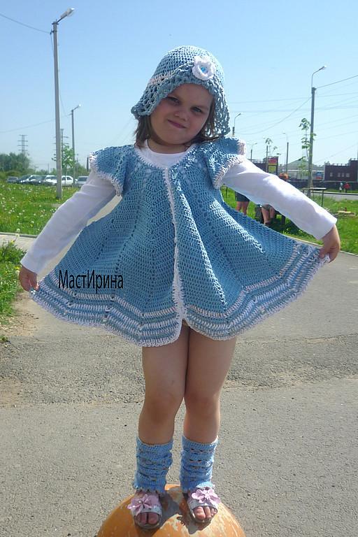 Одежда для девочек, ручной работы. Ярмарка Мастеров - ручная работа. Купить КРЫЛЬЯ БАБОЧКИ. Handmade. Разноцветный, платье крючком
