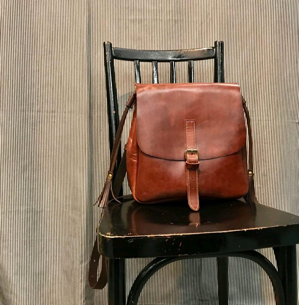 Кожаная сумка коньячного цвета, Сумки, Москва, Фото №1