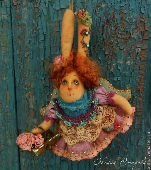 Ароматизированные куклы ручной работы. Ярмарка Мастеров - ручная работа. Купить Матушка - зайчиха.. Handmade. Брусничный, весеннее настроение, текстиль