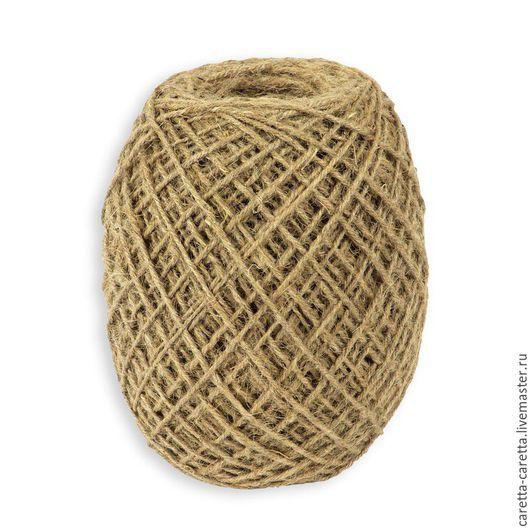 Упаковка ручной работы. Ярмарка Мастеров - ручная работа. Купить Шпагат джутовый (джутовая нить) джут веревка шнур бечевка. Handmade.