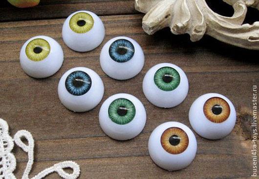 """Куклы и игрушки ручной работы. Ярмарка Мастеров - ручная работа. Купить 18мм Глаза кукольные (зеленые) 2шт. """"3200"""". Handmade."""