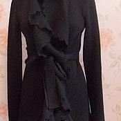 Одежда ручной работы. Ярмарка Мастеров - ручная работа Чёрный кардиган. Handmade.