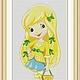 """Вышивка ручной работы. Ярмарка Мастеров - ручная работа. Купить Схема для вышивки крестиком """"Шарлотта земляничка - Лимона"""". Handmade."""