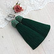 Украшения ручной работы. Ярмарка Мастеров - ручная работа Серьги кисти зеленые. Handmade.