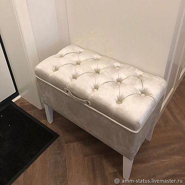 Для дома и интерьера ручной работы. Ярмарка Мастеров - ручная работа Пуф с ящиком для прихожей. Handmade.