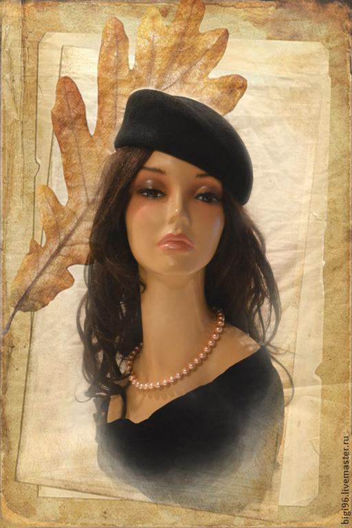 """Шляпы ручной работы. Ярмарка Мастеров - ручная работа. Купить Шляпка """"Бархатная ночь"""". Handmade. Черный, фетровая шляпа"""