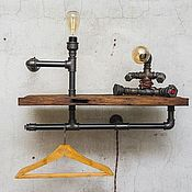 Для дома и интерьера handmade. Livemaster - original item Shelf with lighting style Loft