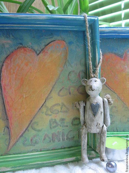 """Детская ручной работы. Ярмарка Мастеров - ручная работа. Купить """"Два сердца"""". Handmade. Картина, День Святого Валентина, детская"""