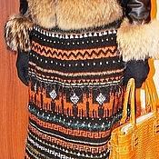 """Одежда ручной работы. Ярмарка Мастеров - ручная работа Эксклюзивная вязанная бесшовная юбка""""Норвежская зима"""" ручная работа. Handmade."""