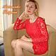 """Платья ручной работы. Ярмарка Мастеров - ручная работа. Купить Платье """" Passion """". Handmade. Ярко-красный, ирландия"""