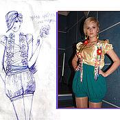 """Одежда ручной работы. Ярмарка Мастеров - ручная работа комплект одежды из коллекции """"Краски весны"""". Handmade."""