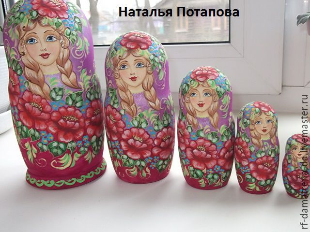 """Matryoshka """" Summer """"5 m, Dolls1, Vyshny Volochyok,  Фото №1"""