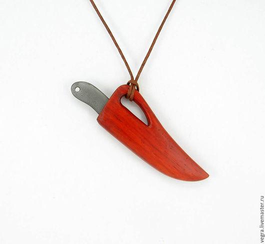 """Готика ручной работы. Ярмарка Мастеров - ручная работа. Купить нож кулон """"коготь рыжего лиса"""". Handmade. Нож, оберег"""