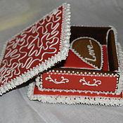 Сувениры и подарки ручной работы. Ярмарка Мастеров - ручная работа пряничная шкатулка. Handmade.
