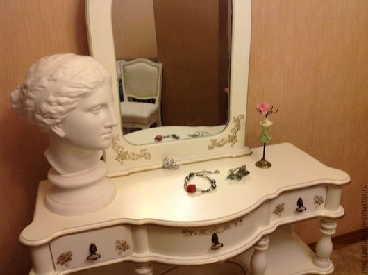 Мебель ручной работы. Ярмарка Мастеров - ручная работа. Купить Комод с зеркалом. Handmade. Белый, дизайн интерьера