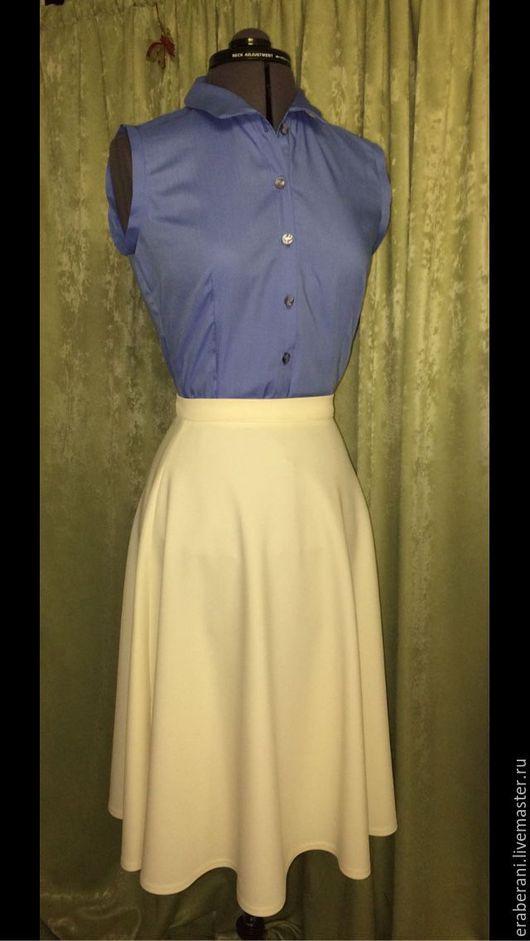 Блузки ручной работы. Ярмарка Мастеров - ручная работа. Купить Блузка голубая. Handmade. Блузка, блузка летняя, блузка на заказ