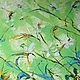 """Картины цветов ручной работы. Ярмарка Мастеров - ручная работа. Купить Живопись """"Зеленые лилии"""" 60х60 на подрамнике маслом мастихином. Handmade."""