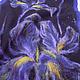 """Шали, палантины ручной работы. Ярмарка Мастеров - ручная работа. Купить палантин валяный """"Ирисы"""". Handmade. Цветочный, черный, цветы"""