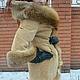 Верхняя одежда ручной работы. Шикарное пальто зимнее с лисой. Ирина (dneproart). Ярмарка Мастеров. Замша натуральная