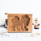 Для дома и интерьера handmade. Livemaster - original item LION Carved wooden gingerbread/honeycake mold. Handmade.