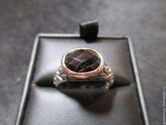Кольца ручной работы. Ярмарка Мастеров - ручная работа. Купить Авторское орнаментальное кольцо с раухтопазом из Индии. Handmade. Коричневый, раухтопаз