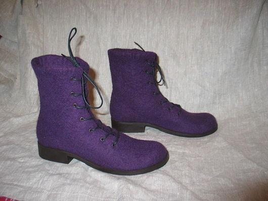 """Обувь ручной работы. Ярмарка Мастеров - ручная работа. Купить Валяные ботинки """"STILLISSIMO-3"""". Handmade. Валенки, ботинки"""