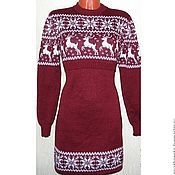 Одежда handmade. Livemaster - original item Dress knitted for feeding Snow deer (Norwegian pattern). Handmade.