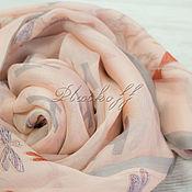 """Аксессуары handmade. Livemaster - original item Эксклюзивный шелковый узкий шарф из ткани Hermes """"Dragonflies"""""""". Handmade."""