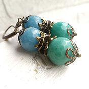 Украшения handmade. Livemaster - original item Earrings turquoise. Handmade.