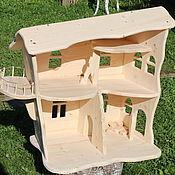 Куклы и игрушки ручной работы. Ярмарка Мастеров - ручная работа деревянный кукольный домик. Handmade.