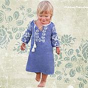 Работы для детей, ручной работы. Ярмарка Мастеров - ручная работа Вышиванка для девочки ВОЛОШКА Платье в пол Детские вышиванки Бохо шик. Handmade.