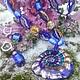 Комплекты украшений ручной работы. Галактическая спираль синяя (комплект).. Сергеева Светлана. Ярмарка Мастеров. Бусы с подвеской, Муранское стекло