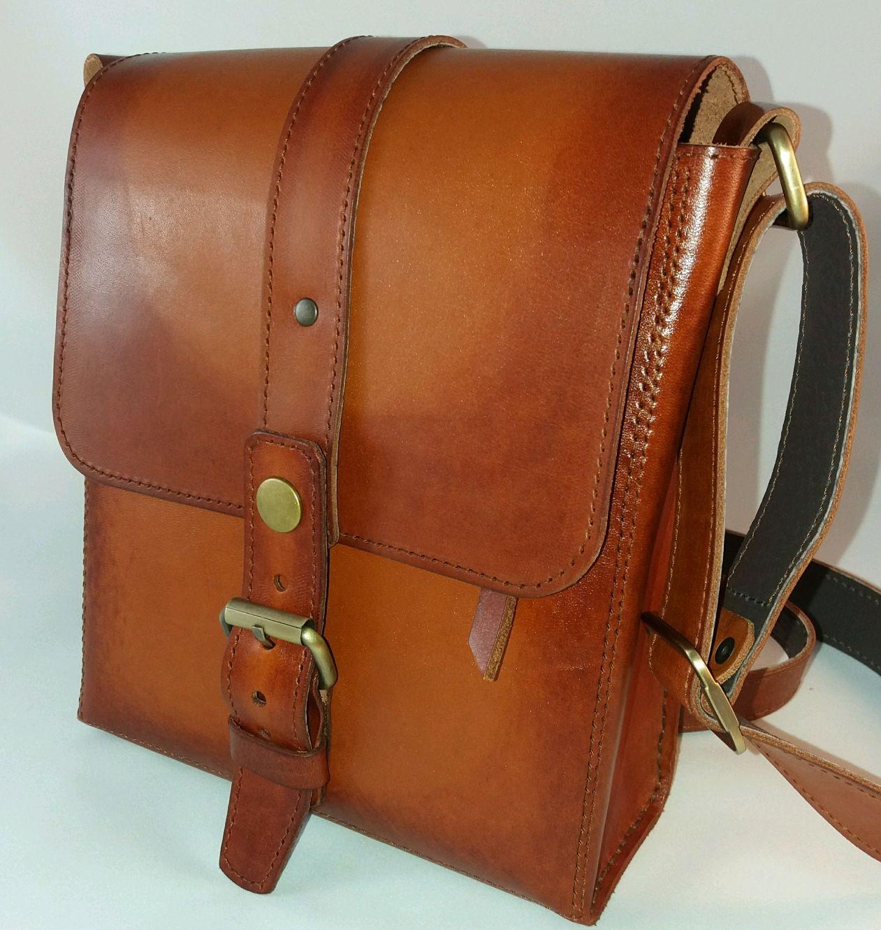 5362c8ae Мужские сумки ручной работы. Ярмарка Мастеров - ручная работа. Купить  Мужская кожаная сумка на ...