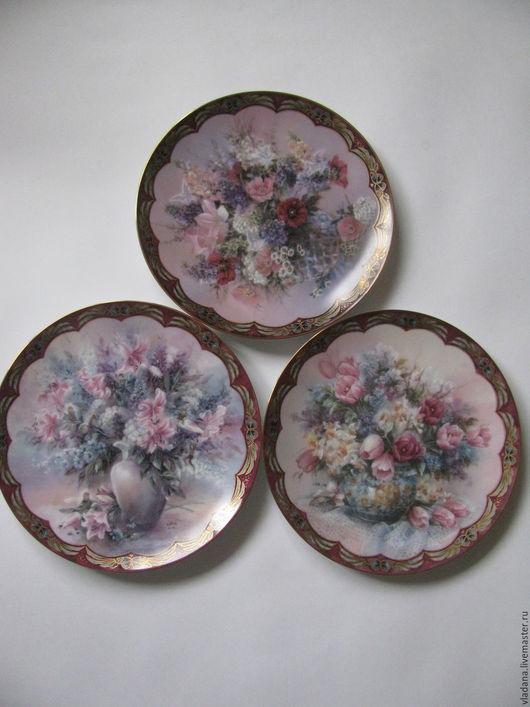 Винтажная посуда. Ярмарка Мастеров - ручная работа. Купить Декоративные тарелочки Lena Liu ( Лена Лю ). Handmade.