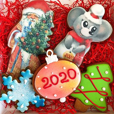 Сувениры и подарки ручной работы. Ярмарка Мастеров - ручная работа Крыса символ 2020 года. Милая крыска и Дед мороз. Handmade.