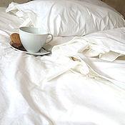 """Для дома и интерьера ручной работы. Ярмарка Мастеров - ручная работа Белое постельное белье """"Senti"""". Handmade."""