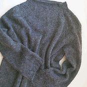 handmade. Livemaster - original item Tunic gray melange color kemker,. made in Italy. Handmade.